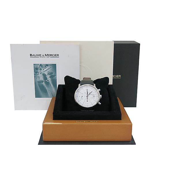 Baume&Mercier (보메메르시에) M0A0859 은장 클라시마 오토메틱 크로노그래프 가죽밴드 남성용 시계 [부산센텀본점]