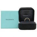 Tiffany(티파니) 18K(750) 로즈골드 + 플레티늄 (PT950) 콤비 밴드 링 반지 [강남본점]