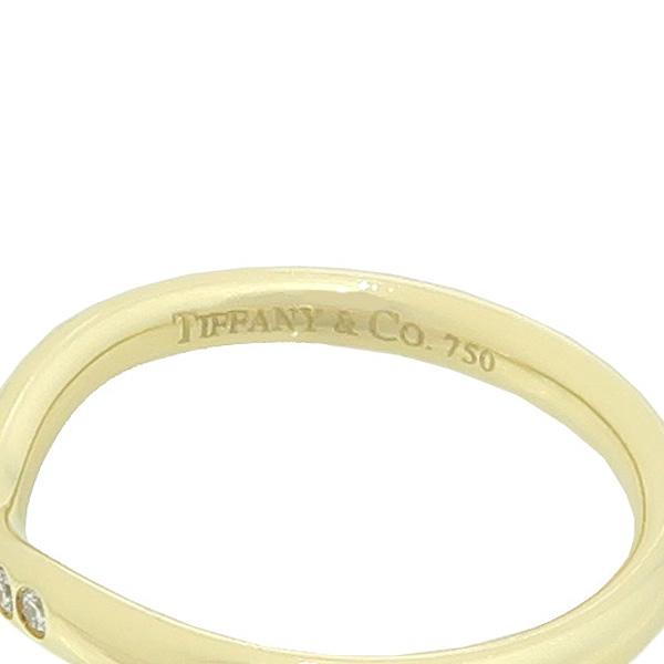Tiffany(티파니) 18K 옐로우골드 ELSA PERETI 엘사퍼레티 커브드 9포인트 다이아 웨딩 밴드 반지 - 8호 [강남본점] 이미지3 - 고이비토 중고명품