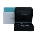 Tiffany(티파니) 33263473 18K 화이트골드 다이아몬드 TIFFANY T 와이어 미디엄 사이즈 브레이슬릿 팔찌 [부산센텀본점]