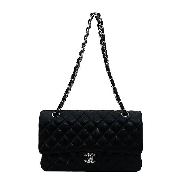 Chanel(샤넬) A01112Y01588 캐비어스킨 블랙 클래식 M사이즈 은장 체인 숄더백 [부산센텀본점] 이미지2 - 고이비토 중고명품
