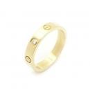 Cartier(까르띠에) 18K 옐로우 골드 1포인트 다이아 미니 러브링 여성용 반지-14호 (W)