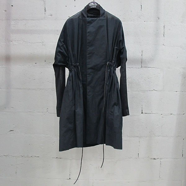 RICK OWENS(릭오웬스) 면 혼방 램+카프 스킨 배색 여성용 야상 자켓 [동대문점]