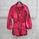 MONCLER(몽클레어) GAMME ROUGE(감마루즈) 핑크 컬러 핑크 골드 로고 장식 여성용 윈드 브레이커 [동대문점]