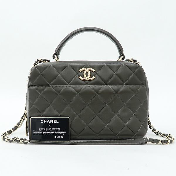 Chanel(샤넬) A92238 카키 컬러 트렌드 CC 볼링 스몰 체인 2WAY [강남본점]