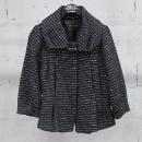 MICHAA(미샤) 블랙 화이트 빅 비쥬 장식 여성용 자켓 [동대문점]