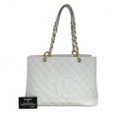 Chanel(샤넬) A50995 화이트 캐비어스킨 그랜드샤핑 금장 체인 숄더백 [동대문점]