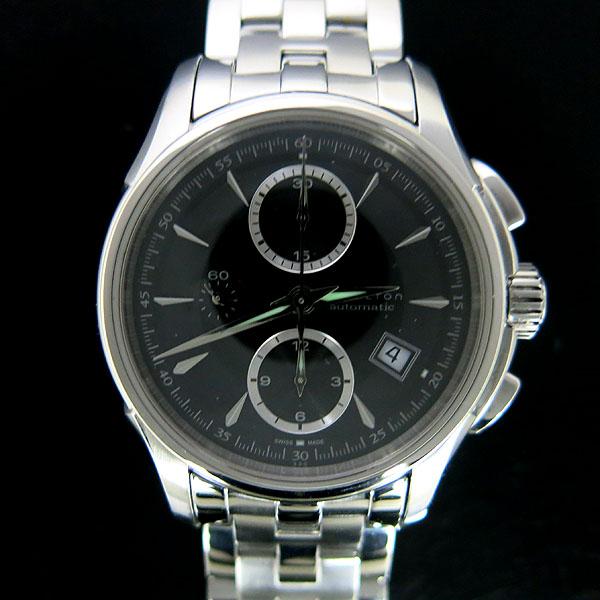 HAMILTON(해밀턴) H326160 JAZZMASTER(재즈마스터) 크로노그래프 시스루백 오토매틱 스틸 남성용 시계 [동대문점]