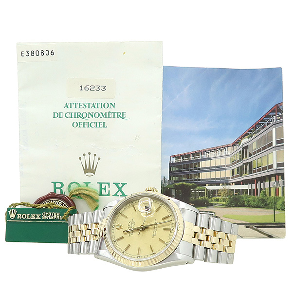 Rolex(로렉스) 16233 DATEJUST 데이트저스트 18K 콤비 스틸 쥬빌레 브레이슬릿 남성용 시계 [강남본점]