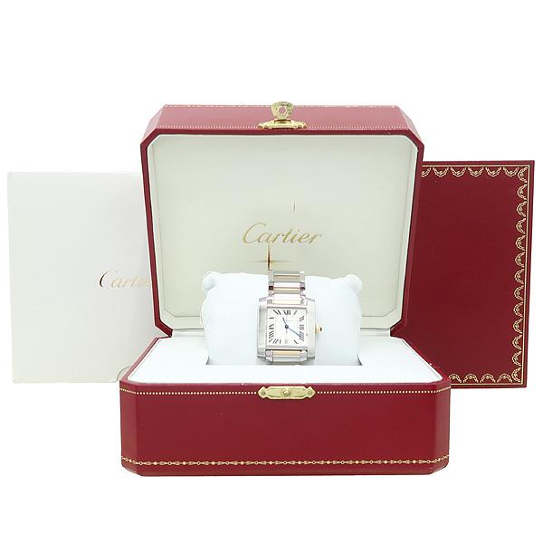 Cartier(까르띠에) W51005Q4 탱크 프랑세즈 오토매틱 18K 콤비 L사이즈 남성용 시계 [강남본점]