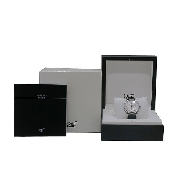 Montblanc(몽블랑) 114857 듀얼 타임 시스루백 데이터 블랙 앨리게이터 밴드 남성용 오토매틱 시계 [인천점]