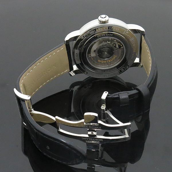 Montblanc(몽블랑) 114857 듀얼 타임 시스루백 데이터 블랙 앨리게이터 밴드 남성용 오토매틱 시계 [인천점] 이미지5 - 고이비토 중고명품