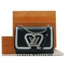 Louis Vuitton(루이비통) M54286 블랙 에삐 레더 트위스트 MM 은장 체인 숄더 겸 크로스백 [인천점]
