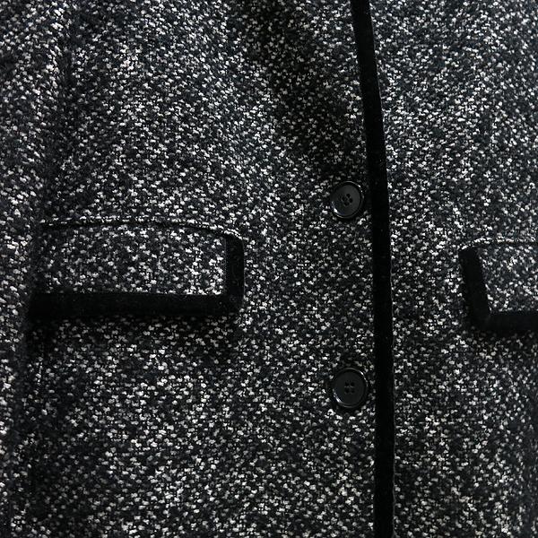 Etro(에트로) 면 모 혼방 블랙 트위드 여성용 롱 코트 자켓 [인천점] 이미지4 - 고이비토 중고명품