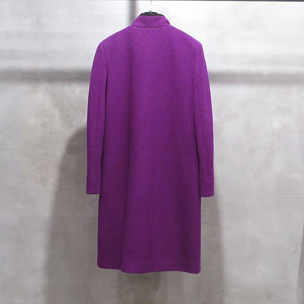 Etro(에트로) 플럼 컬러 모 100% 램스킨 디테일 여성용 롱 코트 자켓 [인천점] 이미지2 - 고이비토 중고명품