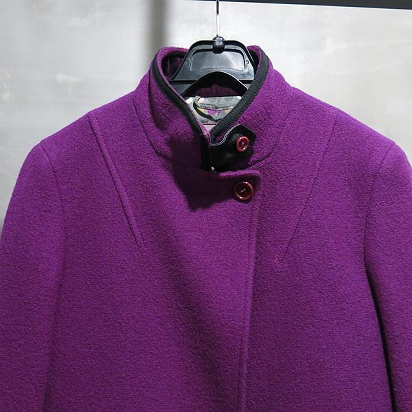 Etro(에트로) 플럼 컬러 모 100% 램스킨 디테일 여성용 롱 코트 자켓 [인천점] 이미지3 - 고이비토 중고명품