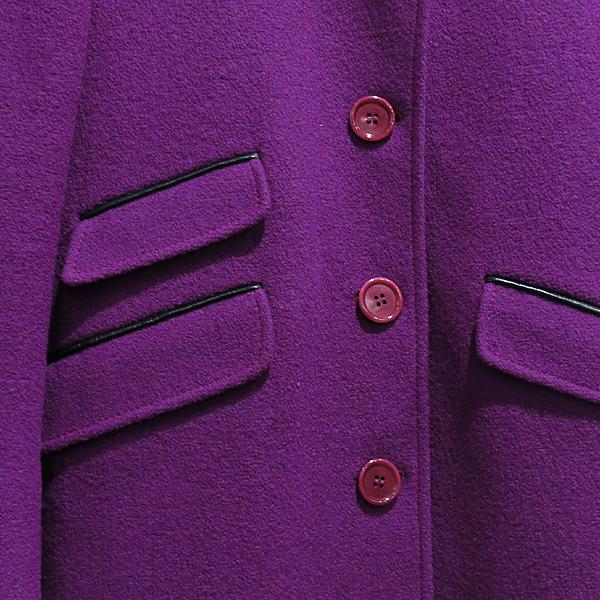 Etro(에트로) 플럼 컬러 모 100% 램스킨 디테일 여성용 롱 코트 자켓 [인천점] 이미지4 - 고이비토 중고명품