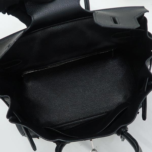 Hermes(에르메스) 블랙 컬러 BIRKIN 30 벌킨 30 은장메탈 락 디테일 플랩 토트백 [강남본점] 이미지5 - 고이비토 중고명품