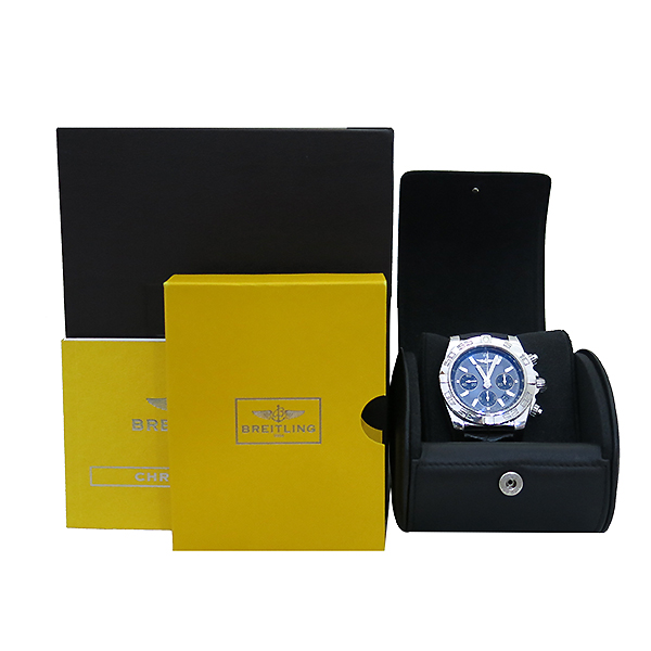 BREITLING(브라이틀링) AB011012/F564/744P 크로노맷 블랙 가죽밴드 남성용 시계 [부산센텀본점]