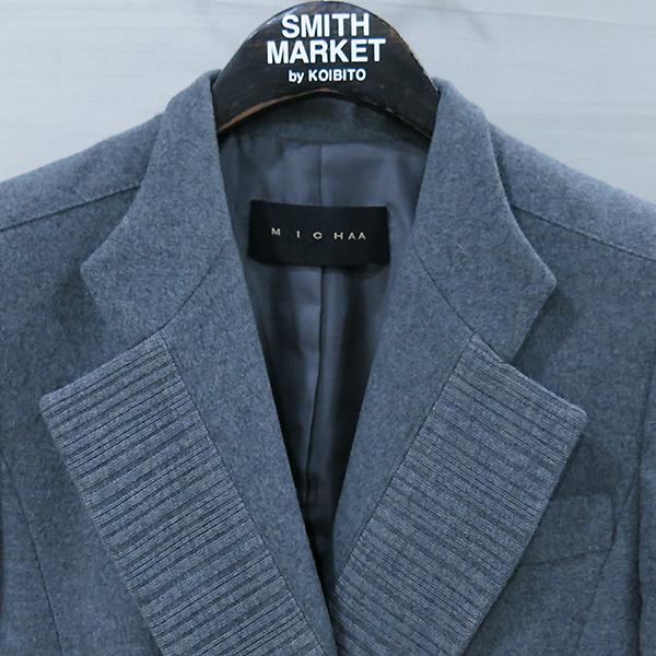 MICHAA(미샤) 모 혼방 그레이 컬러 스트라이프 포인트 자켓 [부산센텀본점]