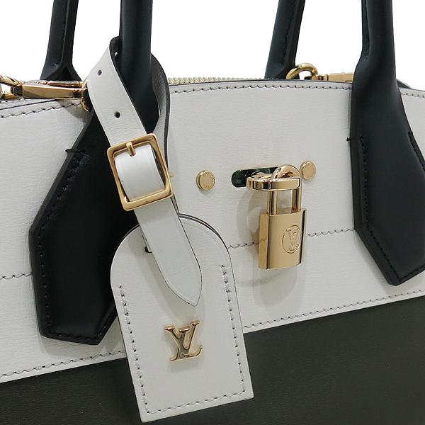 Louis Vuitton(루이비통) M51035 Kaki Blanc Veau Satin Leather(송아지가죽) City Steamer (시티 스티머) MM 토트백 + 숄더스트랩 2WAY [인천점]