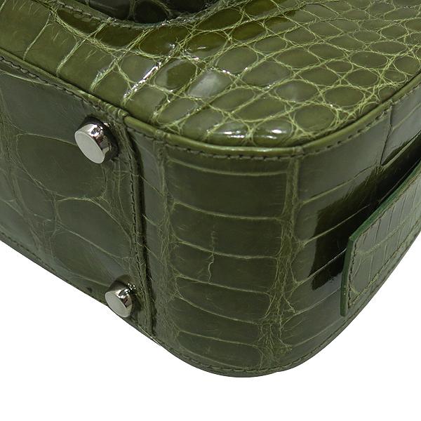 COLOMBO(콜롬보) 올리브카키 컬러 크로커다일 레더 플랩 포켓 장식 토트백 [인천점] 이미지5 - 고이비토 중고명품