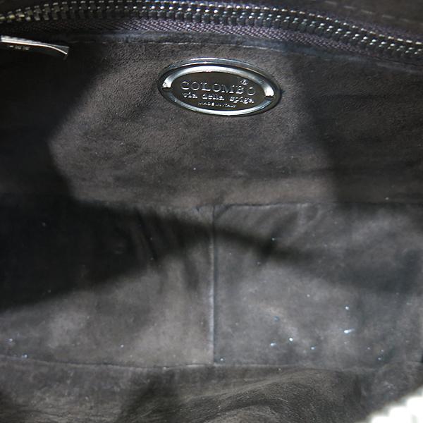 COLOMBO(콜롬보) 올리브카키 컬러 크로커다일 레더 플랩 포켓 장식 토트백 [인천점] 이미지6 - 고이비토 중고명품