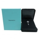 Tiffany(티파니) PT950 (플래티늄) 플뢰르 드 리스 키 다이아몬드 목걸이 펜던트 [인천점]
