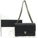 Chanel(샤넬) A58600 그레인드 카프스킨 블랙 클래식 점보 L사이즈 금장로고 체인 플랩 숄더백 [강남본점]