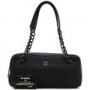 Chanel(샤넬) COCO로고 장식 블랙 패브릭 퀼팅 블랙 체인 숄더백 [강남본점]