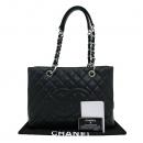 Chanel(샤넬) A50995 블랙 캐비어스킨 그랜드샤핑 은장 체인 숄더백 [부산센텀본점]