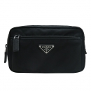 Prada(프라다) 2VL977 블랙 나일론 은장 삼각 로고 집업 Belt Bag (벨트백) 힙색 [인천점]