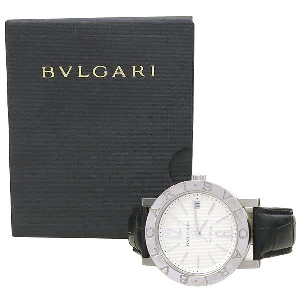 Bvlgari(불가리) BB38SL BVLGARI BVLGARI(불가리 불가리) 오토매틱 DD클립 가죽 밴드 남성용 시계 [강남본점]