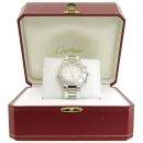 Cartier(까르띠에) W10184U2 MUST 21C 머스트 크로노스카프 쿼츠 38MM 스틸 콤비 러버밴드남여공용 시계 [강남본점]