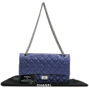 Chanel(샤넬) A37587 빈티지 블루 메탈릭 2.55 M사이즈 메탈 체인 숄더백 [강남본점]