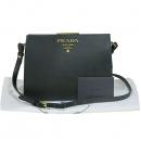 Prada(프라다) 1BC046 금장 로고 블랙 사이파노 프레임 숄더백 [대구동성로점]