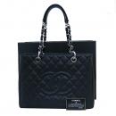 Chanel(샤넬) A50995 캐비어스킨 블랙 그랜드샤핑 은장 로고 체인 숄더백 [부산센텀본점]