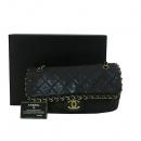 Chanel(샤넬) COCO 금장 로고 블랙 램스킨 어라운드 체인 숄더백 [대구동성로점]