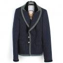 Balenciaga(발렌시아가) 100% 울 네이비 컬러 스트라이프 금장 3 버튼 장식 여성용 자켓 [강남본점]