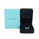 Tiffany(티파니) 18K 화이트 골드 다이아 더블 하트 Paloma Picasso(팔로마 피카소) 목걸이 [동대문점]
