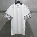 Kenzo(겐죠) 면100% 화이트 컬러 로고 장식 남성용 반팔 티셔츠 [인천점]
