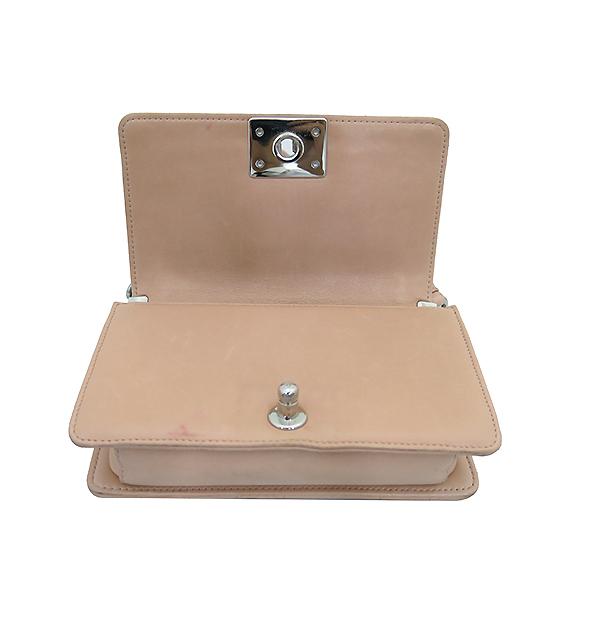Chanel(샤넬) A66230 크루즈 라인 보이 샤넬 Galuchat(가오리) 램스킨 연핑크 레더 S 사이즈(미니) 빈티지 메탈 체인 숄더백 [부산센텀본점] 이미지4 - 고이비토 중고명품