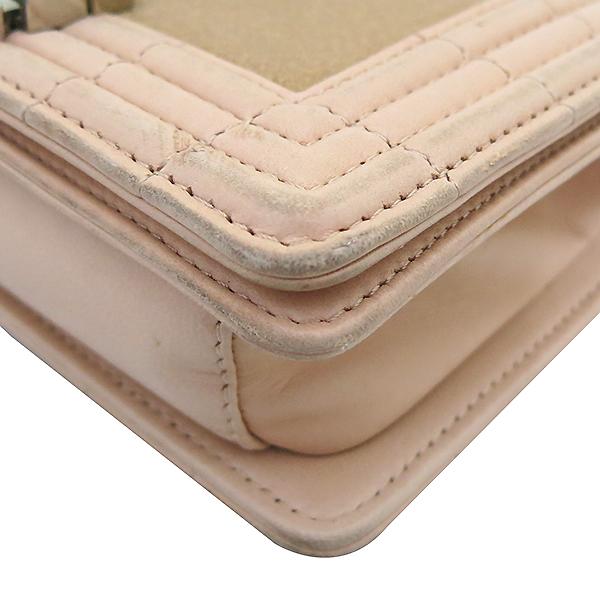 Chanel(샤넬) A66230 크루즈 라인 보이 샤넬 Galuchat(가오리) 램스킨 연핑크 레더 S 사이즈(미니) 빈티지 메탈 체인 숄더백 [부산센텀본점] 이미지5 - 고이비토 중고명품