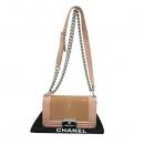 Chanel(샤넬) A66230 크루즈 라인 보이 샤넬 Galuchat(가오리) 램스킨 연핑크 레더 S 사이즈(미니) 빈티지 메탈 체인 숄더백 [부산센텀본점]