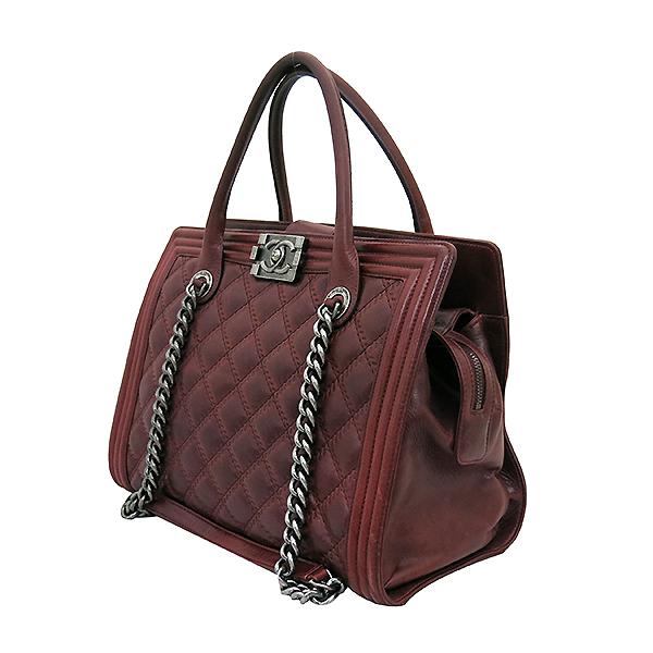 Chanel(샤넬) A66385 빈티지 은장 로고 장식 보이 버건디 컬러 2WAY [부산센텀본점] 이미지2 - 고이비토 중고명품
