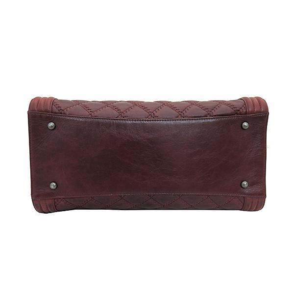 Chanel(샤넬) A66385 빈티지 은장 로고 장식 보이 버건디 컬러 2WAY [부산센텀본점] 이미지4 - 고이비토 중고명품