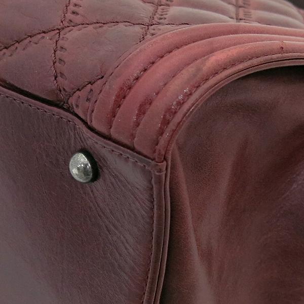 Chanel(샤넬) A66385 빈티지 은장 로고 장식 보이 버건디 컬러 2WAY [부산센텀본점] 이미지5 - 고이비토 중고명품