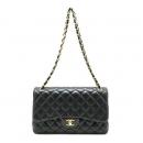 Chanel(샤넬) 램스킨 클래식 점보 사이즈 금장 체인 숄더백 [부산해운대역점] (W)