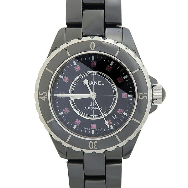 Chanel(샤넬) H1626 J12 블랙 세라믹 12포인트 핑크 사파이어 다이아 38mm 오토메틱시계 [대전본점]