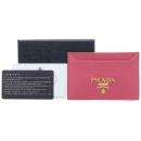Prada(프라다) 1MC208 금장 핑크 비텔로다이노 카드 명함지갑 [강남본점]